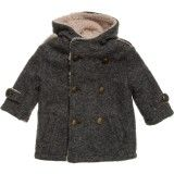 Baby Boys Wool Hooded Coat