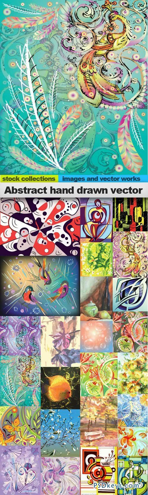 Abstract hand drawn vectors 25xeps psd pinterest abstract hand drawn vectors 25xeps gumiabroncs Images
