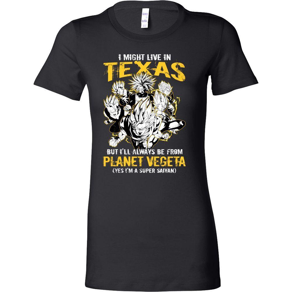 Super Saiyan I May Live in Texas Woman Short Sleeve T shirt - TL00061WS