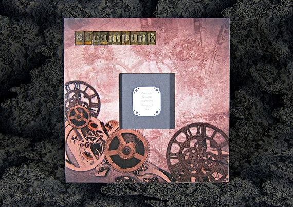 """An interesting Steampunk-themed frame for 4""""x4"""" photo."""