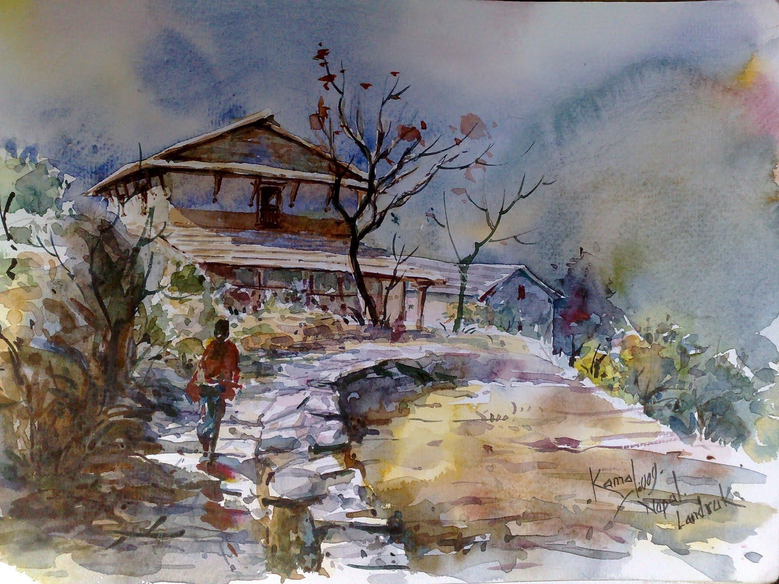 watercolor paintings images - HD1600×1200