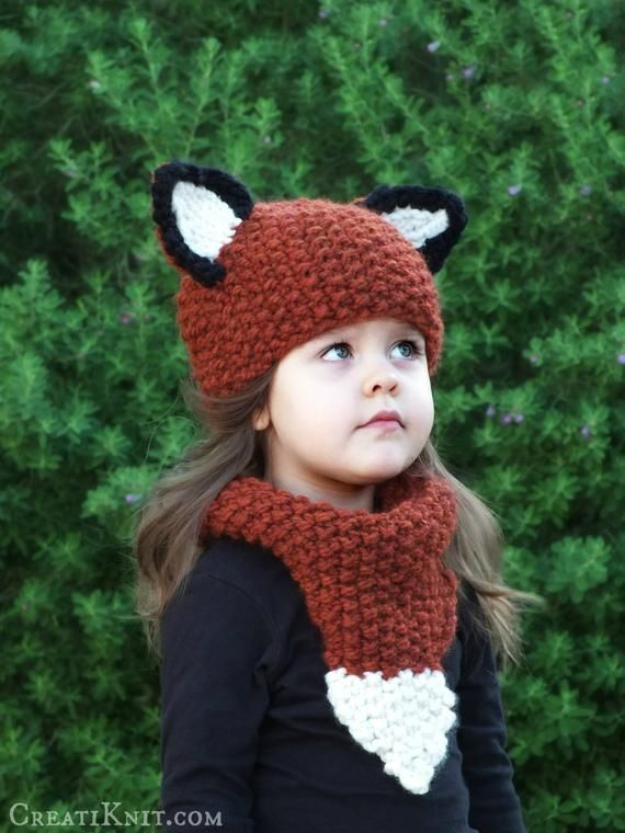 e807aad3e93 Knitting Pattern - The Fox Hat and Cowl Set (Baby