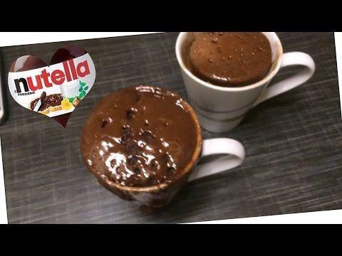 Nutella Tassenkuchen Mit Flussigem Kern In Nur 2 Minuten Youtube