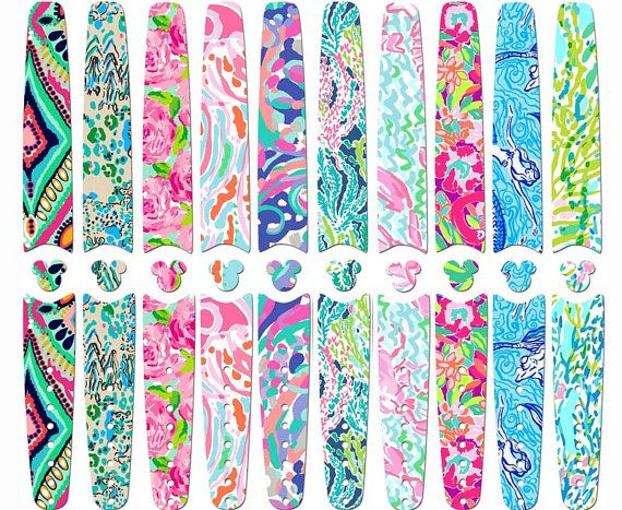Disney magic band skins and decals lilly pulitzer by shopemilyg