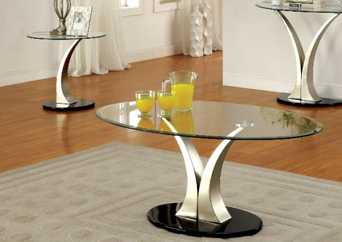 2 Pc Furniture Of America Valo Collection Coffee Table