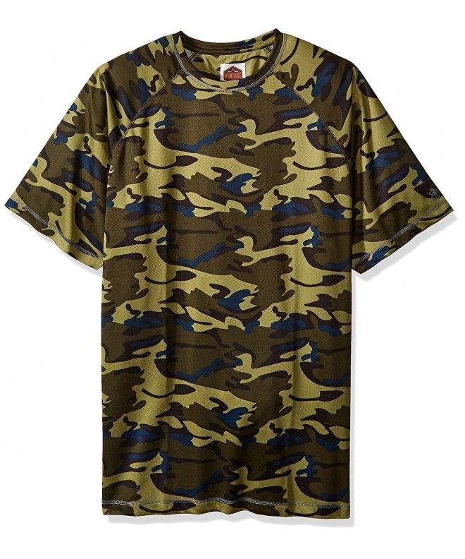3e6a505a Men's Big and Tall Camo Athleisure Short Sleeve Raglan Top - Fatigue Camo -  CC12G8PA5AP,