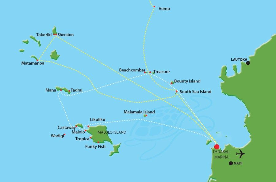 South Sea Cruises Resort Connections Map Planning for Fiji 2017 - new world map fiji country