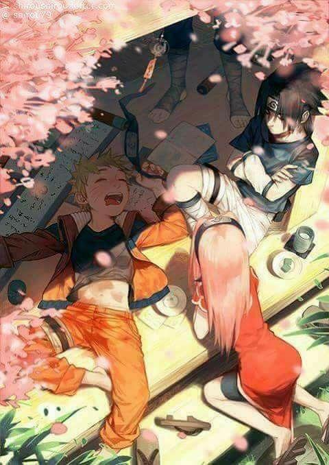 Team 7 in free time ♥♥♥ Naruto, Sasuke, Sakura and