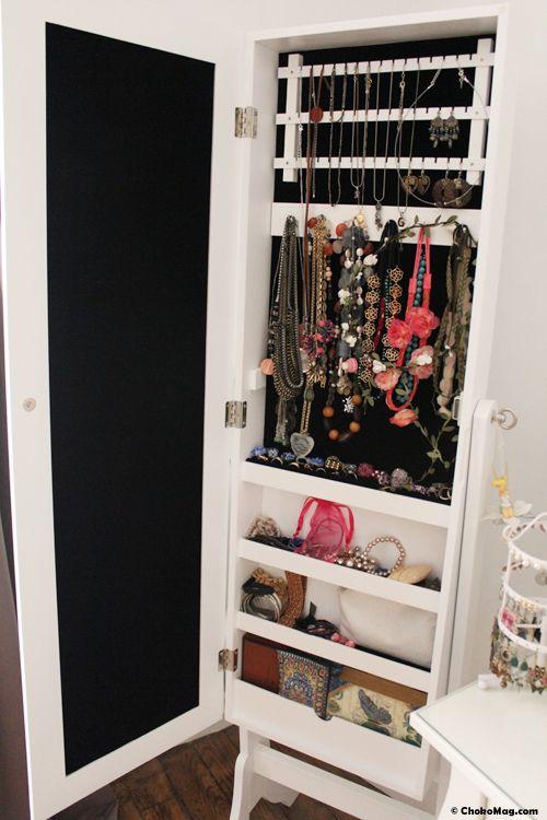 miroir range bijoux pas cher. Black Bedroom Furniture Sets. Home Design Ideas