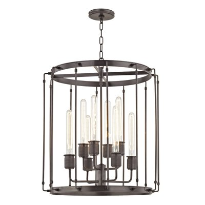 Hudson Valley Lighting Hyde Park 8 - Light Lantern Geometric Chandelier | Perigold