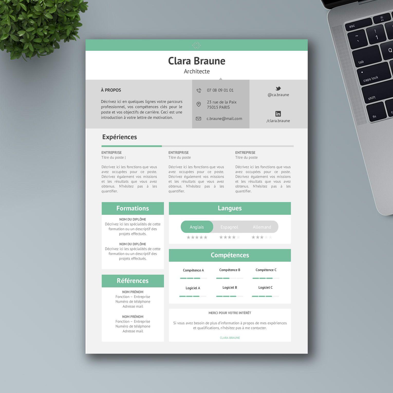 Créer un CV Word percutant pour 2020 Cv job étudiant