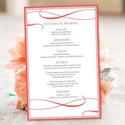 printable wedding menu template it s love guava editable word
