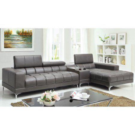 Amazing Furniture Of America Riverton 2 Piece Sectional Sofa With Customarchery Wood Chair Design Ideas Customarcherynet