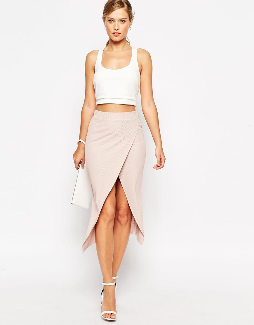 Crop top   wrap midi skirt for a simple spring or summer night out ...