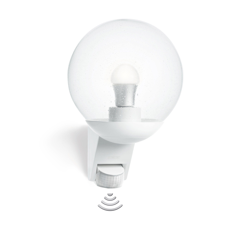 Applique Avec Detecteur De Mouvement Exterieure E27 Max 60w Blanc L585 Steinel En 2020 Detecteur De Mouvement Luminaire Exterieur Luminaire