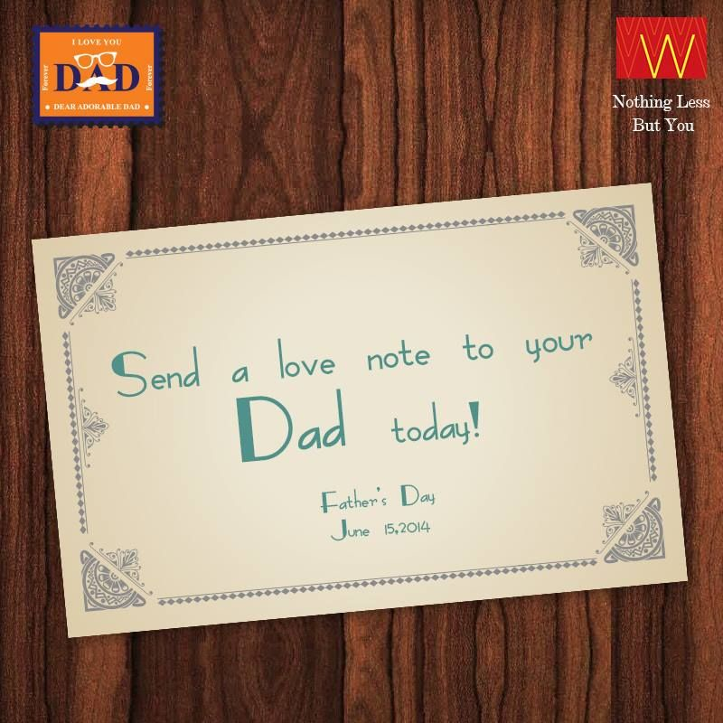 We will send a handwritten #love note to your #dad. Fill the #postcard now : http://shopforw.com/fathersday/