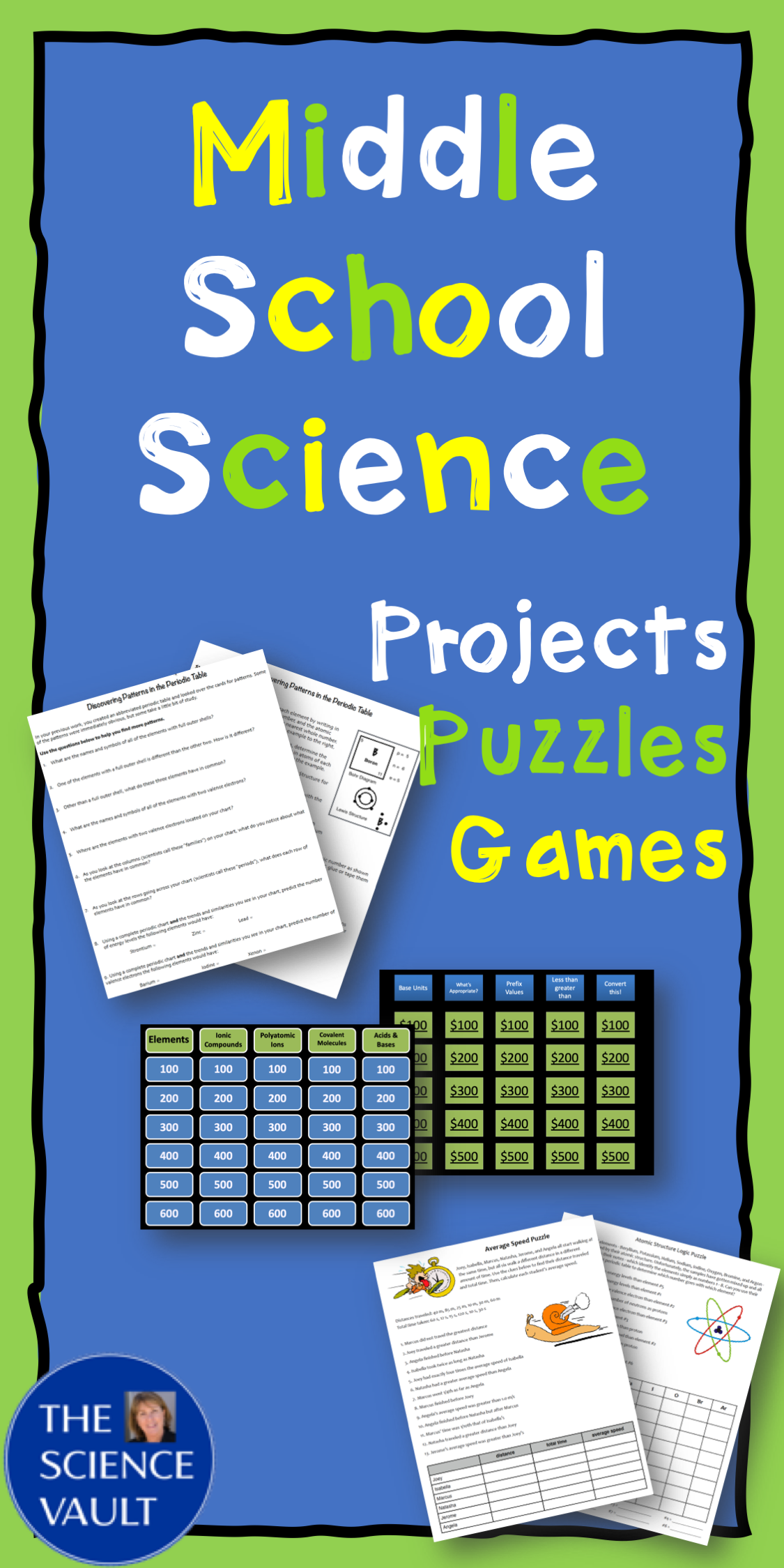 Periodic Table Projects Logic Puzzles Middle School
