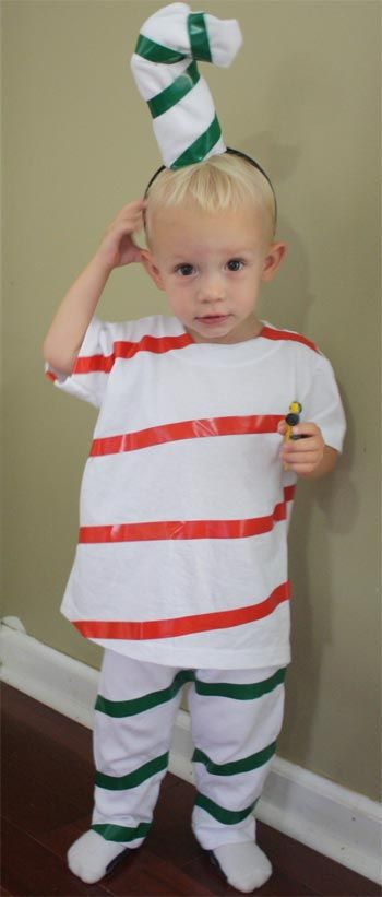 Candy cane costume just grab some white t shirts and go do you want to create a unique homemade halloween costume this year here are some simple and frugal costume ideas to do it yourself solutioingenieria Choice Image