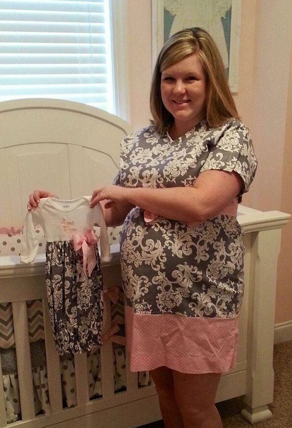 Matching Mother and Baby Maternity Hospital Gowns-Monogrammed with ...