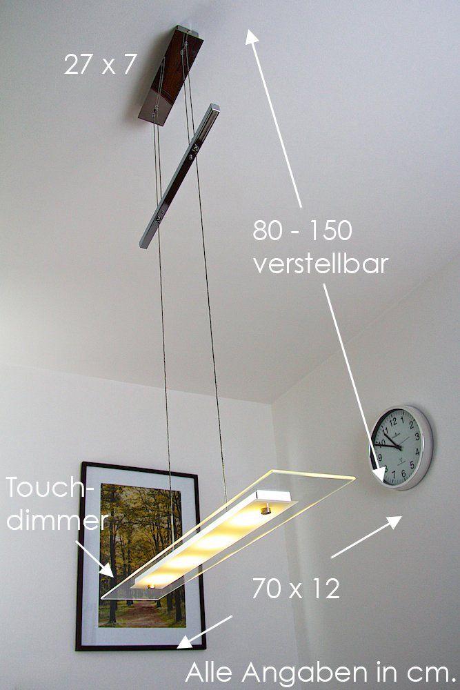 Hohenverstellbare Led Hangelleuchte Malef 4 X 5 Watt 4 X 400 Lumen