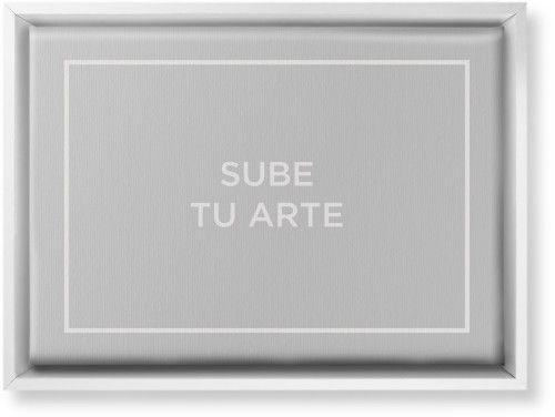 Sube Tu Arte Canvas Print, White, Single piece, 10 x 14 inches