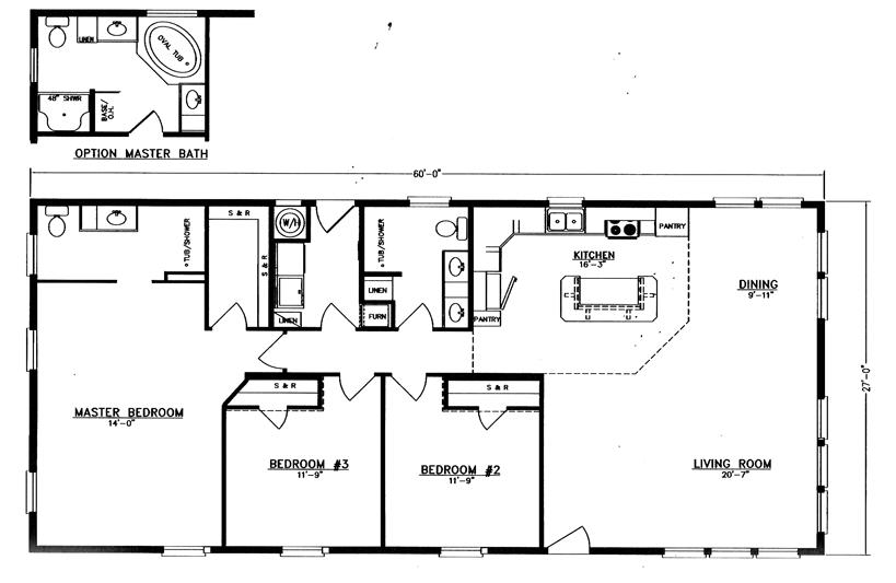 3 bedroom 2 bath house plans. House Plan 27\u0027X 60\u0027 - EVANS And HOMES 3 Bedroom, 2 Bathroom, 1620sqft, Model 5PA60H8 Bedroom Bath Plans