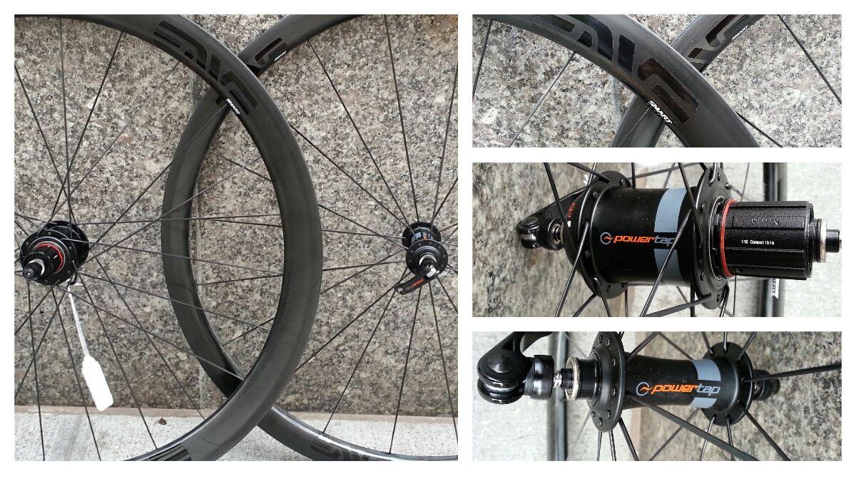 G3 SES 3.4 ENVE Carbon Wheelset http://www.sidsbikes.com/gear/wheels/power-tap/2014-power-tap-g3-ses-3-4-carbon-clincher-wheelset.html