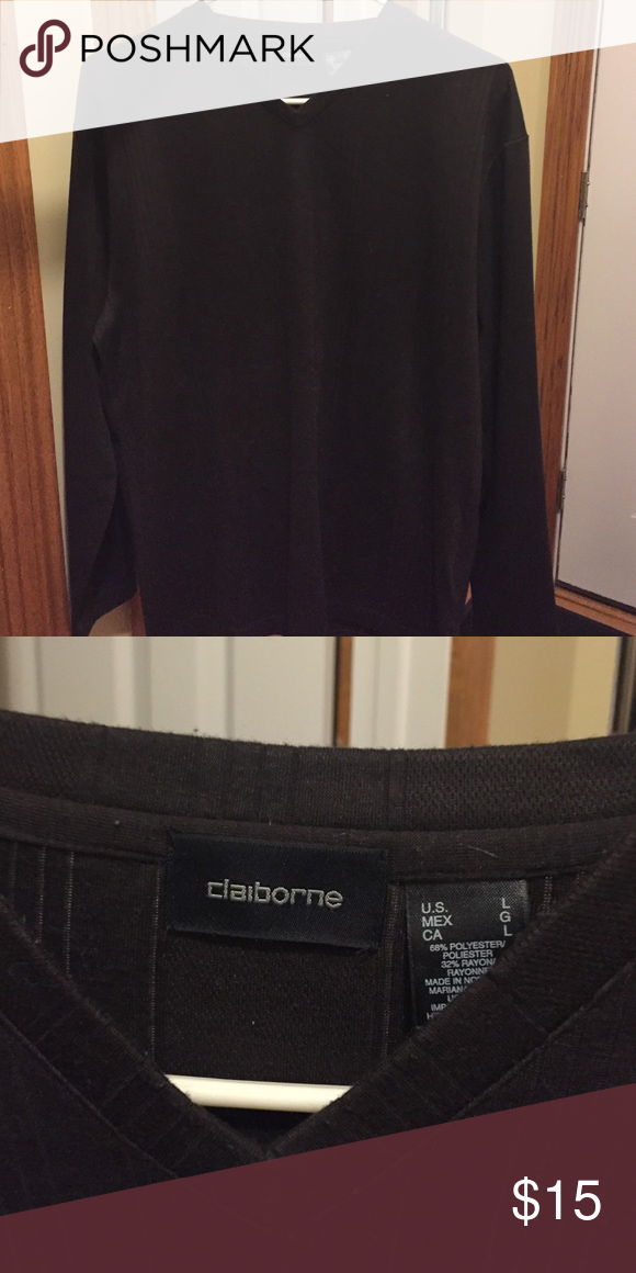 Claiborne long sleeve shirt Long sleeve black shirt size L Claiborne Shirts Tees - Long Sleeve