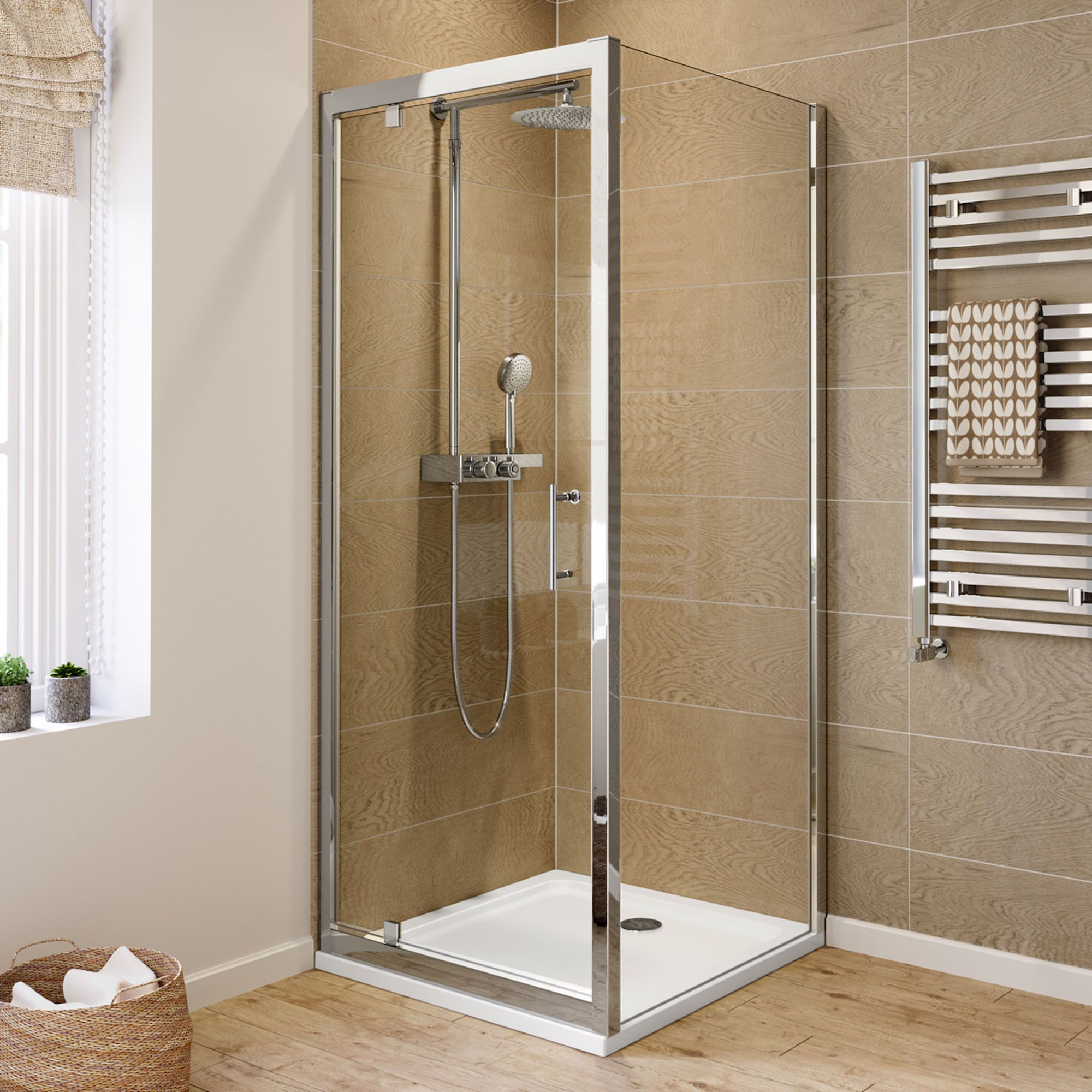 760x760mm 6mm Elements Pivot Door Shower Enclosure Shower Enclosure Corner Shower Enclosures Pivot Doors