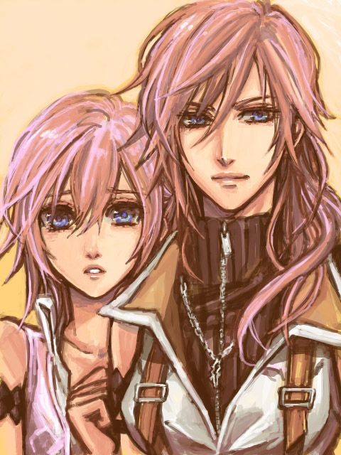 Lightning Serah Final Fantasy Xiii Cloud