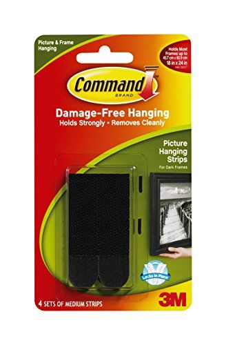 3m Picture Hanging Strips Medium Black 4 Strip Details Can Be