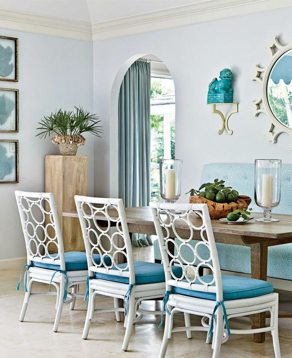 Charming 50 Shades Of Aqua Home Decor. Blue Dining RoomsCoastal ...