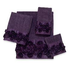 Avanti Iris Bath Towels   Bed Bath & Beyond | Purple decor, Floral
