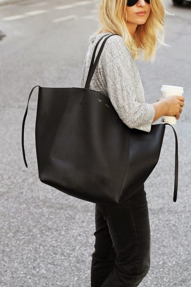 Loving  The Big Black Bag for fall. They look very sophisticated against a chunky  sweater or jeans with a jacket in the fall. e81865cb67