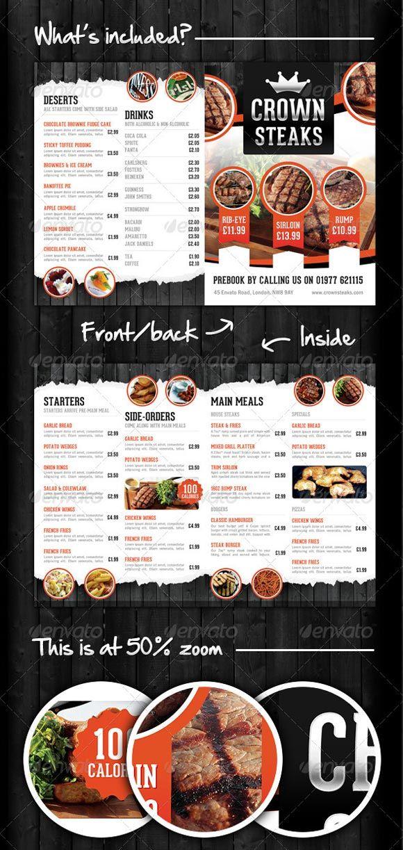 40 Beautiful Restaurant Menu Templates and Designs - Design - a la carte menu template
