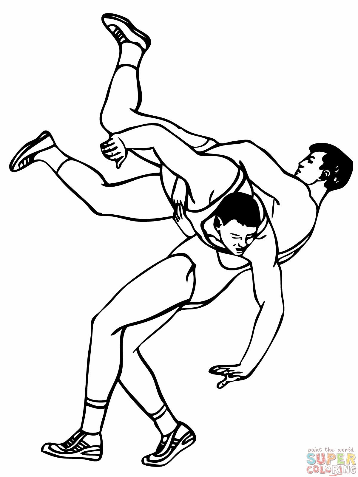 wrestling coloring pages for boys enjoy coloring printoble