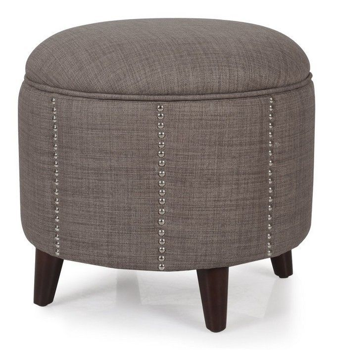 AdecoTrading Button Tufted Lift Round Storage Ottoman  sc 1 st  Pinterest : brown ottoman with storage  - Aquiesqueretaro.Com