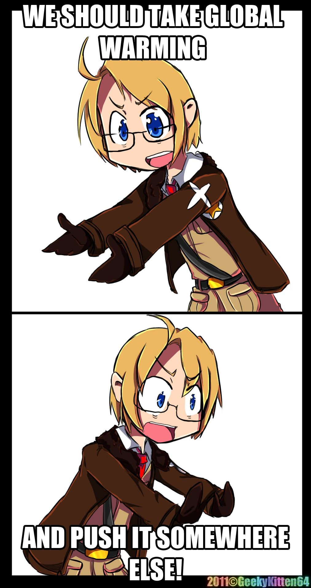 And America, as the hero, will accomplish this daunting feat lol! :D #Hetalia
