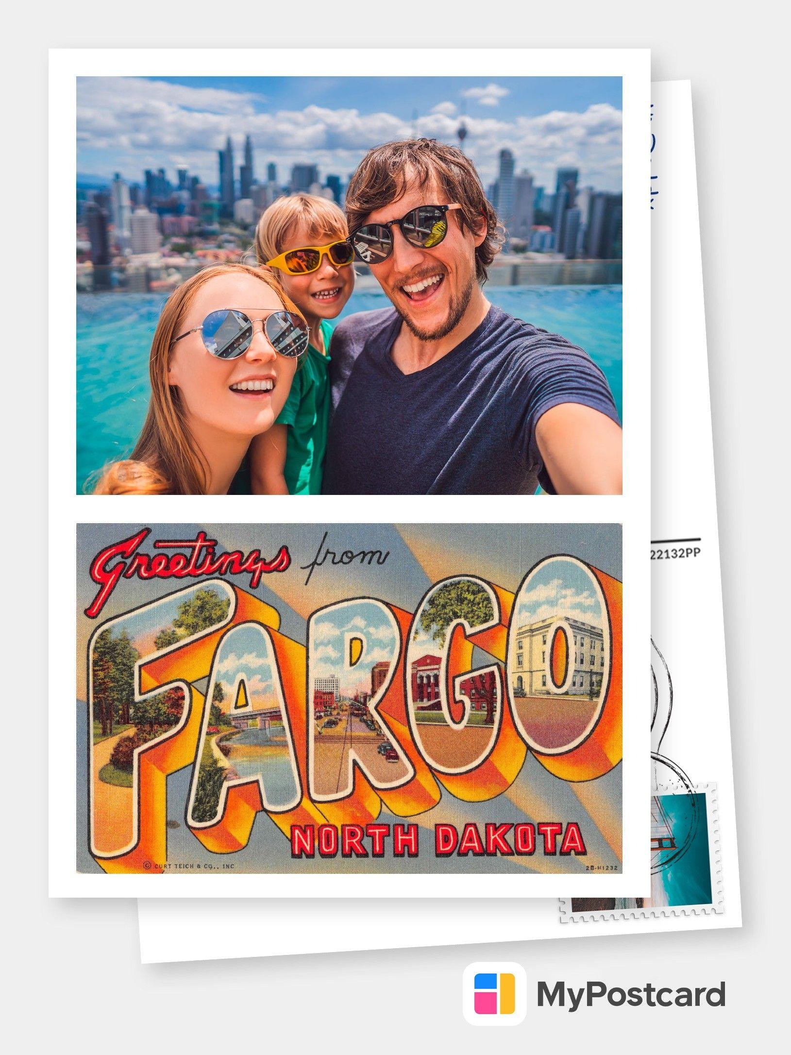 Fargo North Dakota Greetings Large Letter
