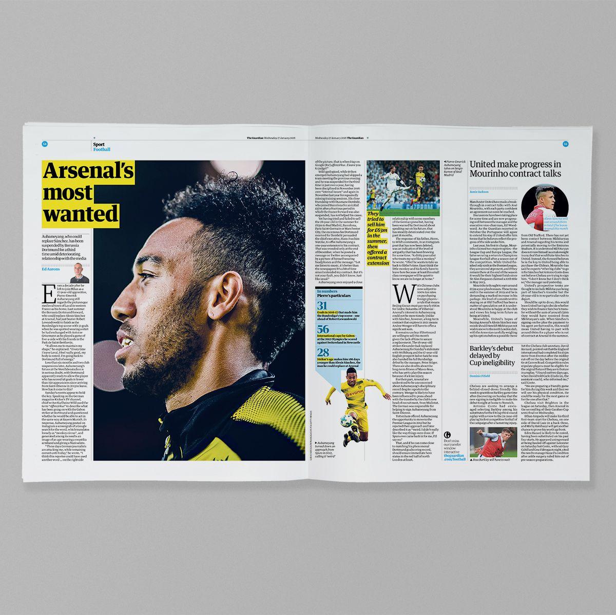 Guardian Sport #editorialdesign #newsdesign #graphicdesign #sportsdesign