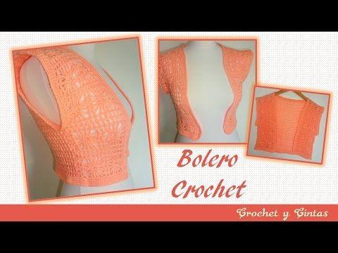 Bolero tejido a crochet con punto fantasía – Parte 2 - YouTube