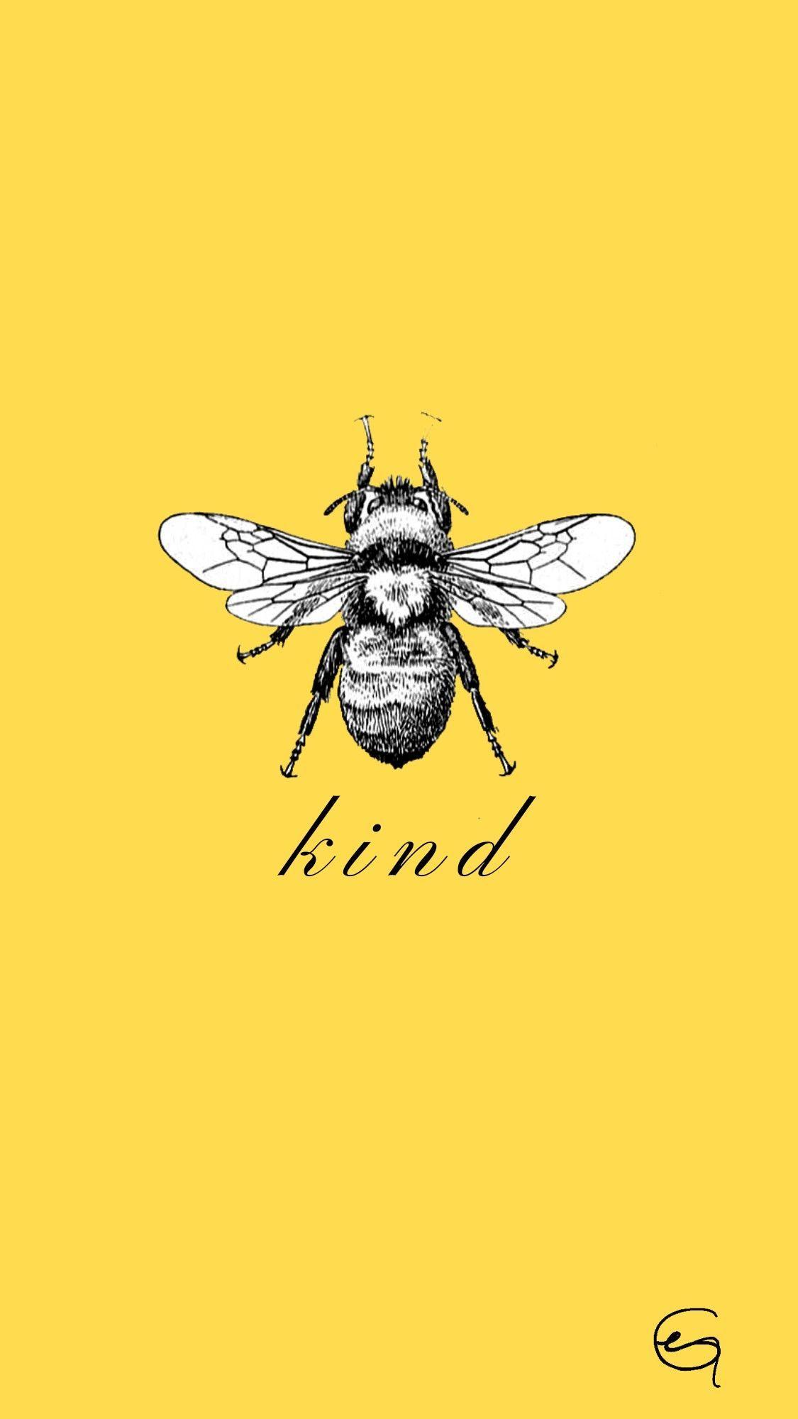phone wall paper yellow #phonewallpaper yellow bee, 2020 ...