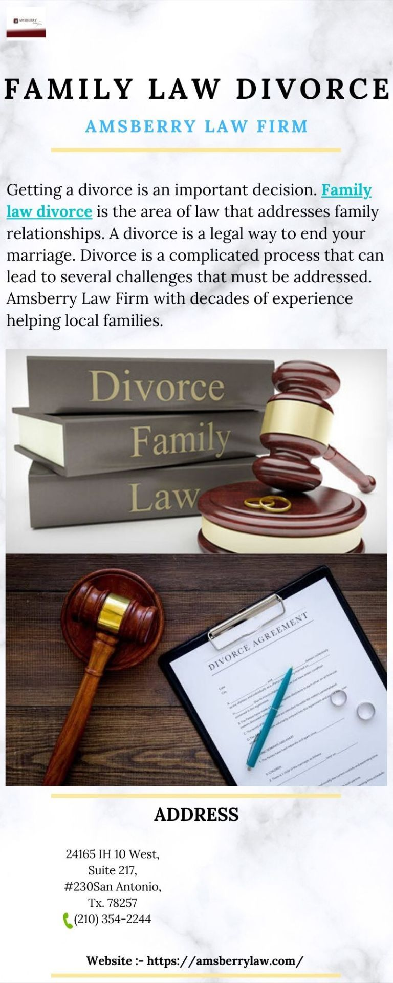 Family Law Divorce Is The Area Of Law That Addresses Family