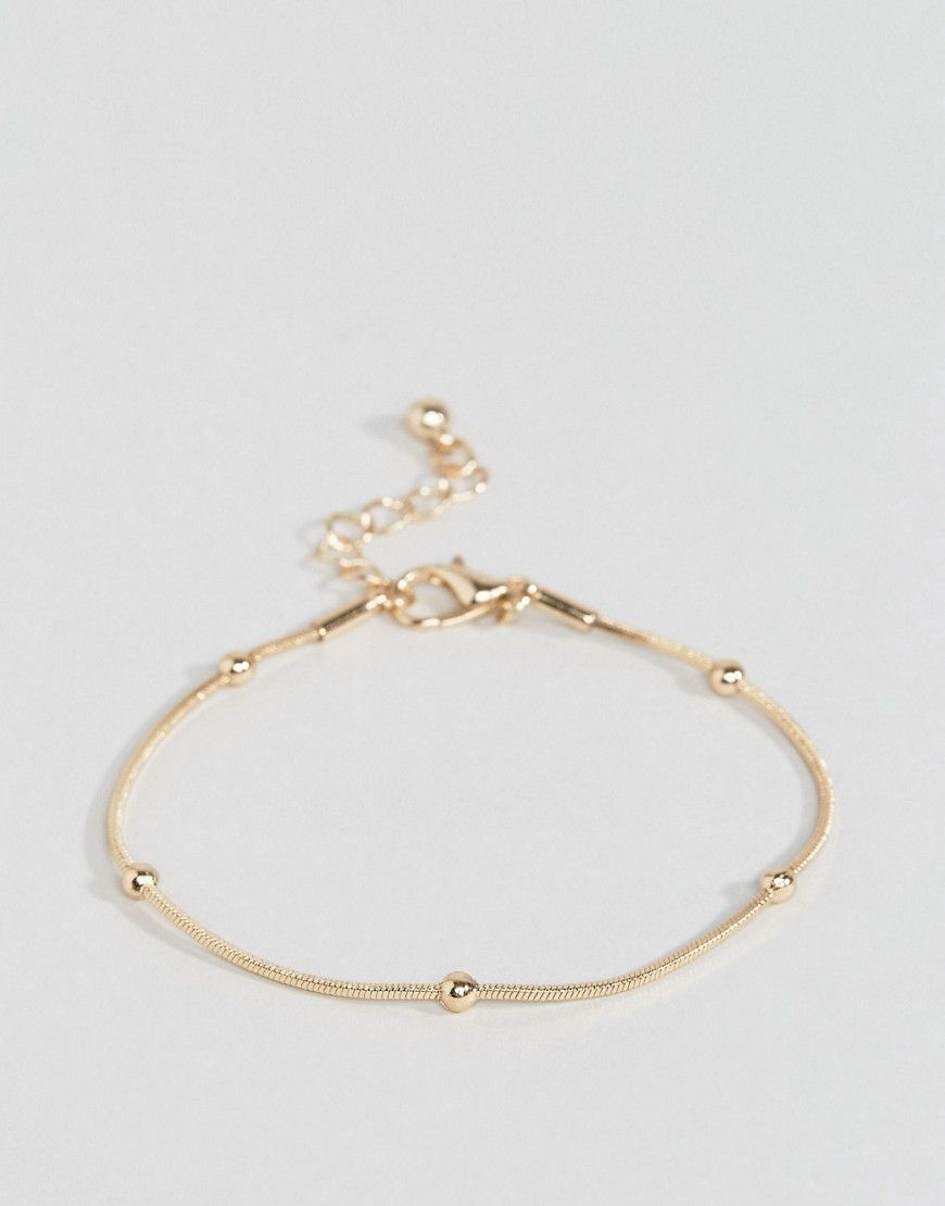 Asos Dot Dash Square Chain Bracelet Gold By Collection Tone Finish And Design Adjule Length Lobster Clasp