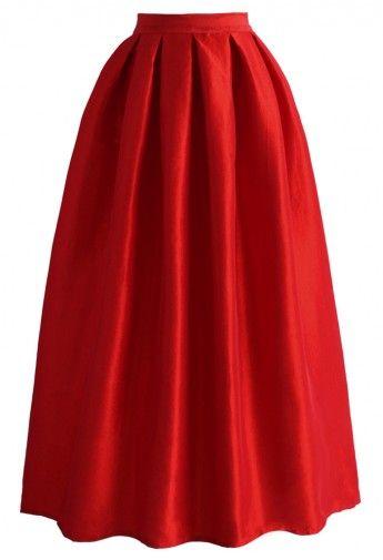 La Diva Pleated Maxi Full Skirt in Red | Skirt two | Pinterest ...