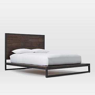 Logan Bed- Full - Smoked Brown