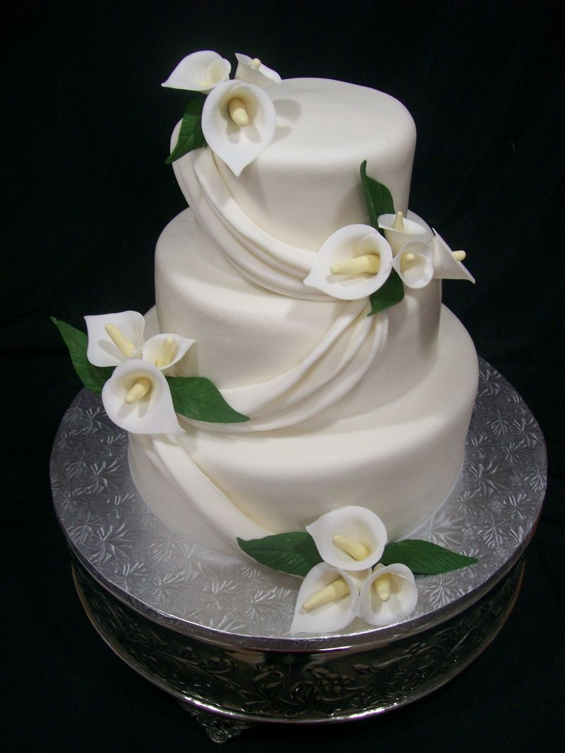 Calla Lily Cake Except With Purple Calla Lilies Cakes In 2018