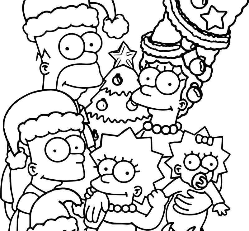 The Simpsons Wallpaper Christmas Coloring Page Christmas Colors Christmas Coloring Pages Coloring Books