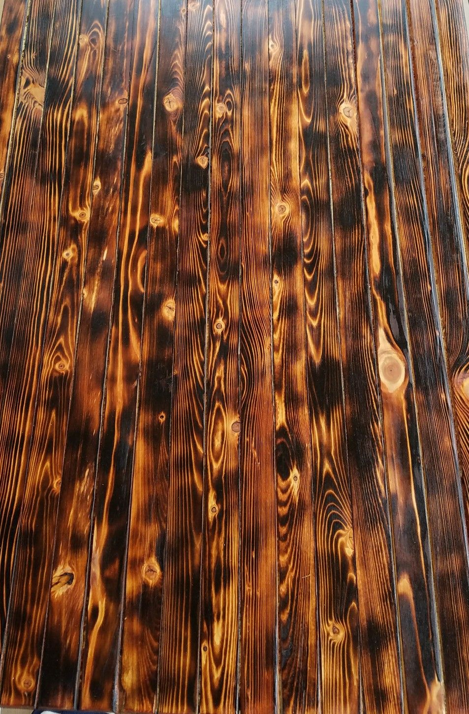 Burnt Burned Table Top Love The Contrast Tung Oil Finish Burnt Wood Finish Coffee Table Wood Wood Bar Top