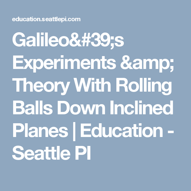 galileo education